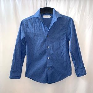 Calvin Klein Boys Button Down Dress Shirt Size 8